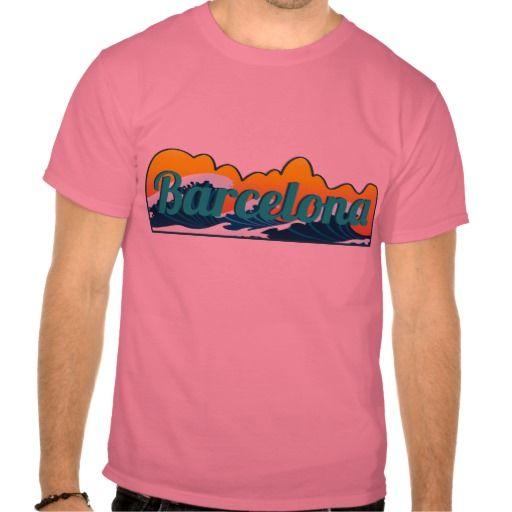 Barcelona Surfer  Barcelona  tshirt available on  zazzle.  tee  t ... 5fa9e3b02d3