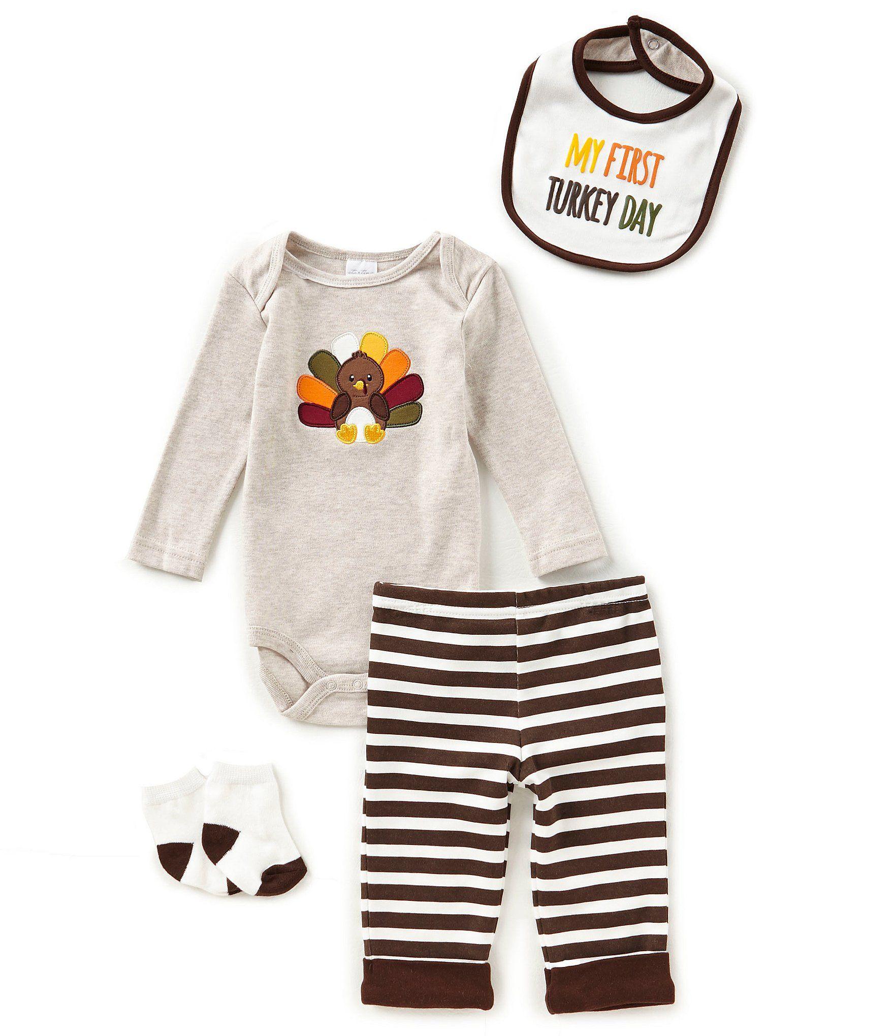Starting Out Baby Boys Newborn 9 Months Thanksgiving Turkey 4 Piece