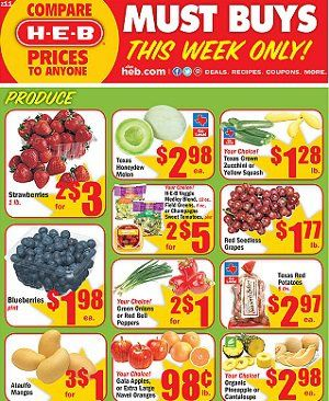 HEB Weekly Ad Sale Texas | Grocery ads, Weekly ads, Ads