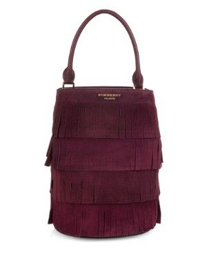 Fringed suede bucket bag | Burberry Prorsum | MATCHESFASHION.COM US