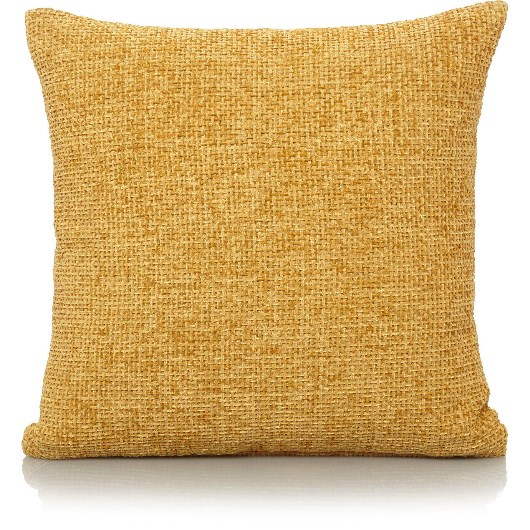 Best Large Chenille Cushion Ochre Home George Cushions 640 x 480