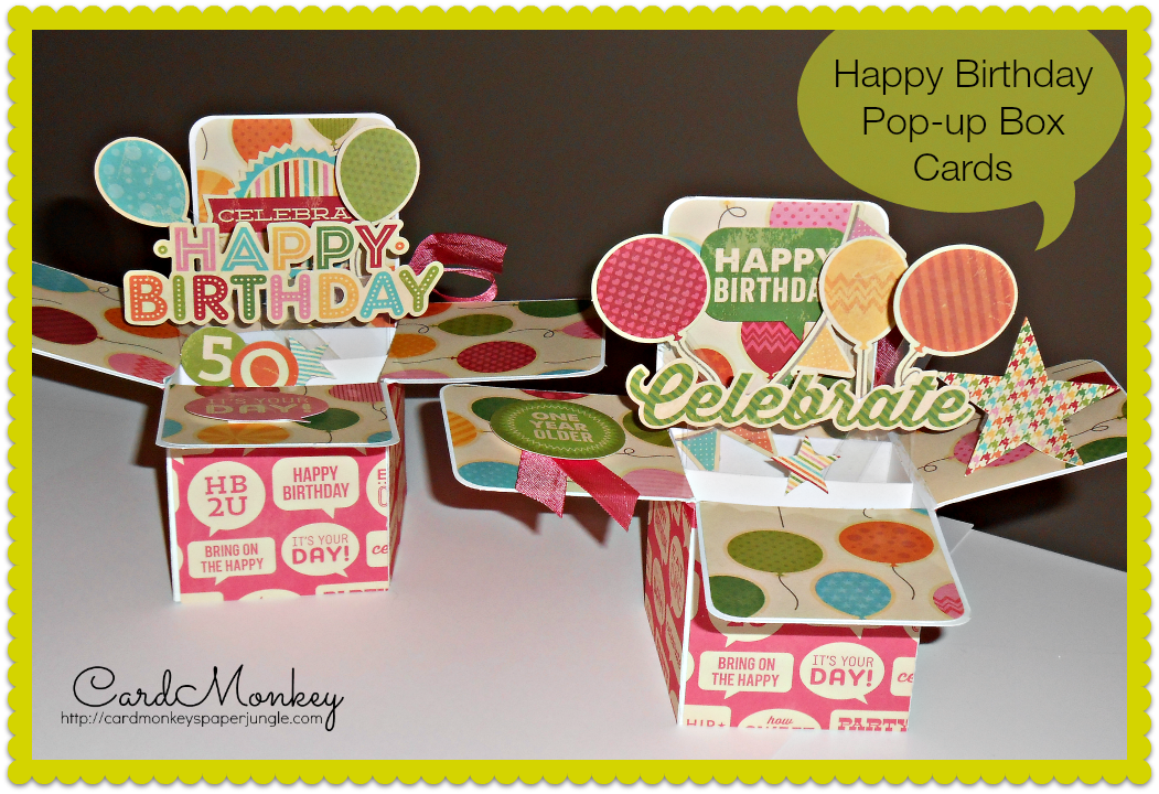 Cardmonkey S Paper Jungle Pop Up Box Cards Card Box Pop Up Cards