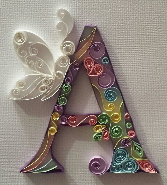 Photo of Decorative Letters – Quilled Paper Art