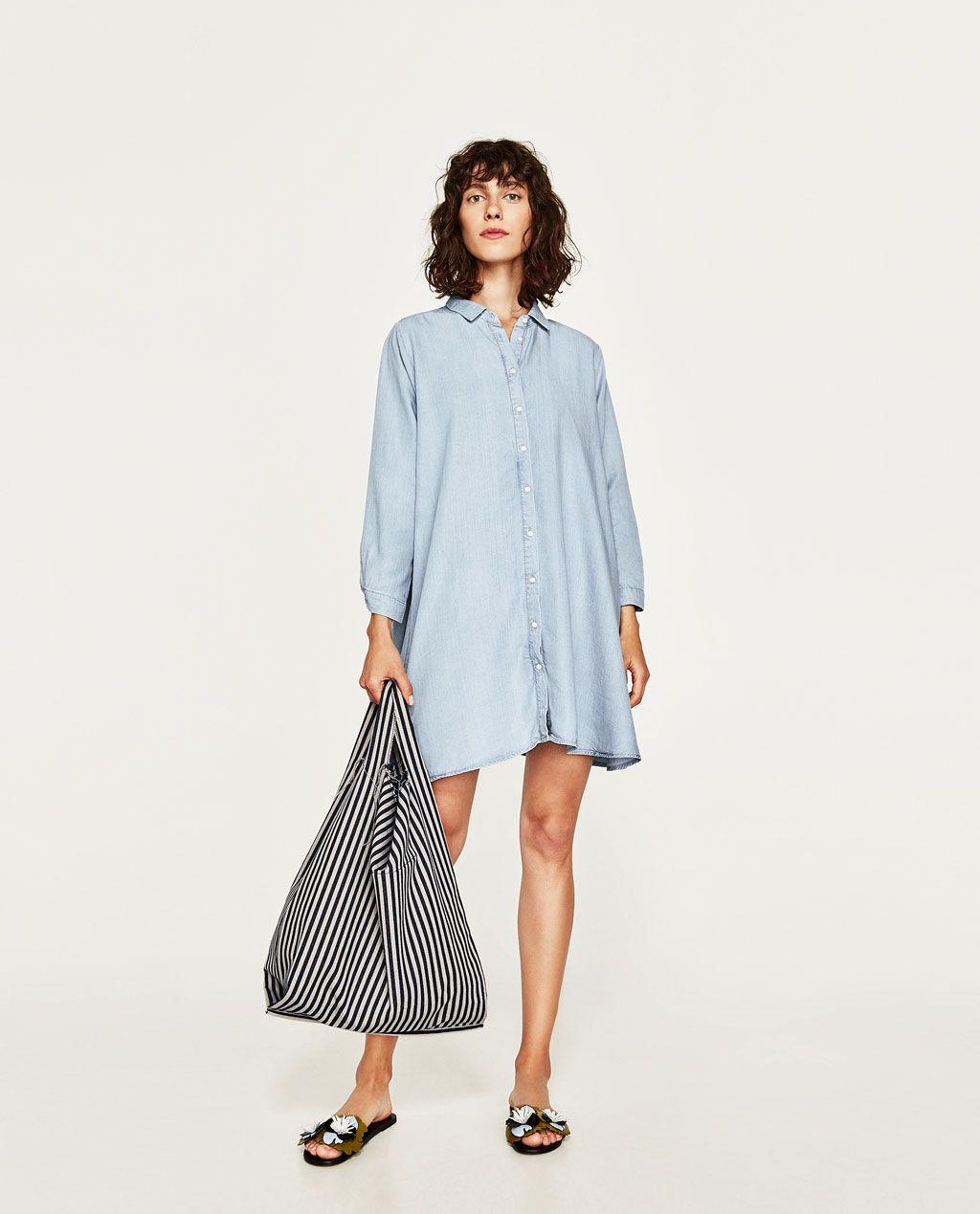 b43d35d1 DENIM MINI DRESS-NEW IN-WOMAN | ZARA United States | • Shopping ...
