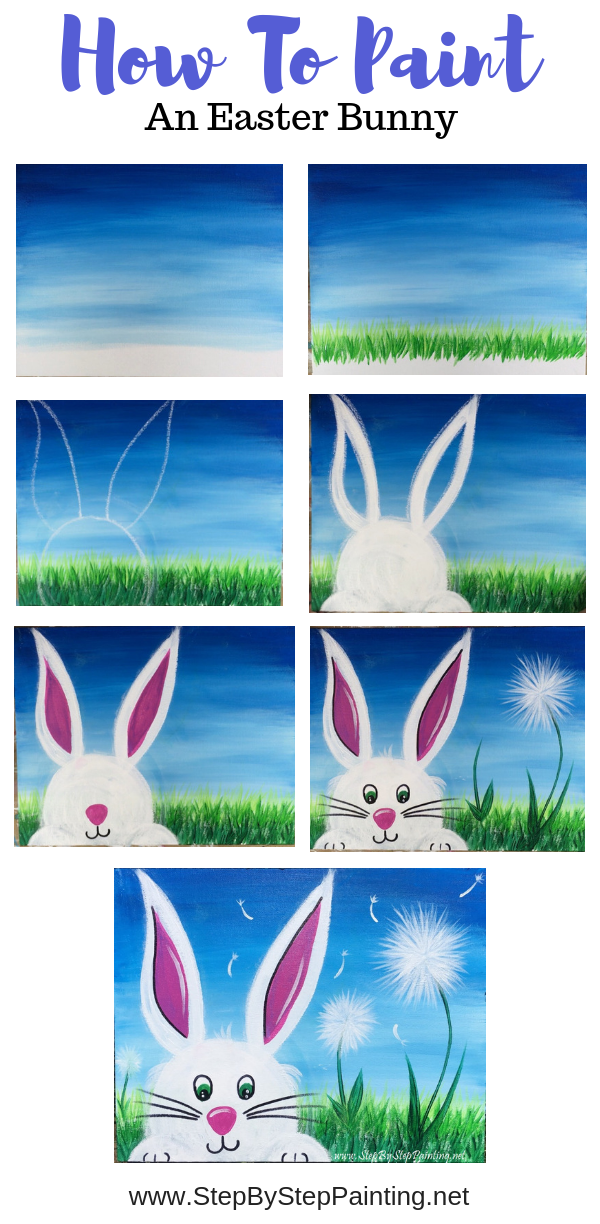 How To Paint An Easter Bunny In 2020 Easter Paintings Easter