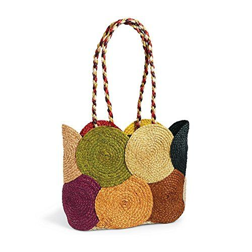 Your must-have summer tote: crisp, casual, roomy and eco-friendly. Natural #jute is lined in black cotton and equipped with braided handles. Inside zipper pocket...