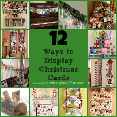 12 Ways to Display Christmas Cards | OrganizingMadeFun.com