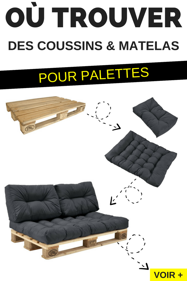 o trouver des coussins et matelas pour fabriquer des meubles en palettes diy deco brico. Black Bedroom Furniture Sets. Home Design Ideas