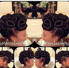 Kanekalon Updo Natural Hair Styles Natural Hair Updo Hair Styles