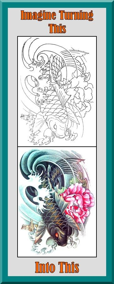 Koi Fish Coloring Book 24 Printable Coloring Pages Outlines Color Examples Instant Download K Japanese Tattoo Art Koi Fish Colors Printable Coloring Book