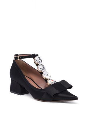 8323dece19d54 MARNI Crystal T-Strap Block-Heel Pumps. #marni #shoes #pumps | Marni ...