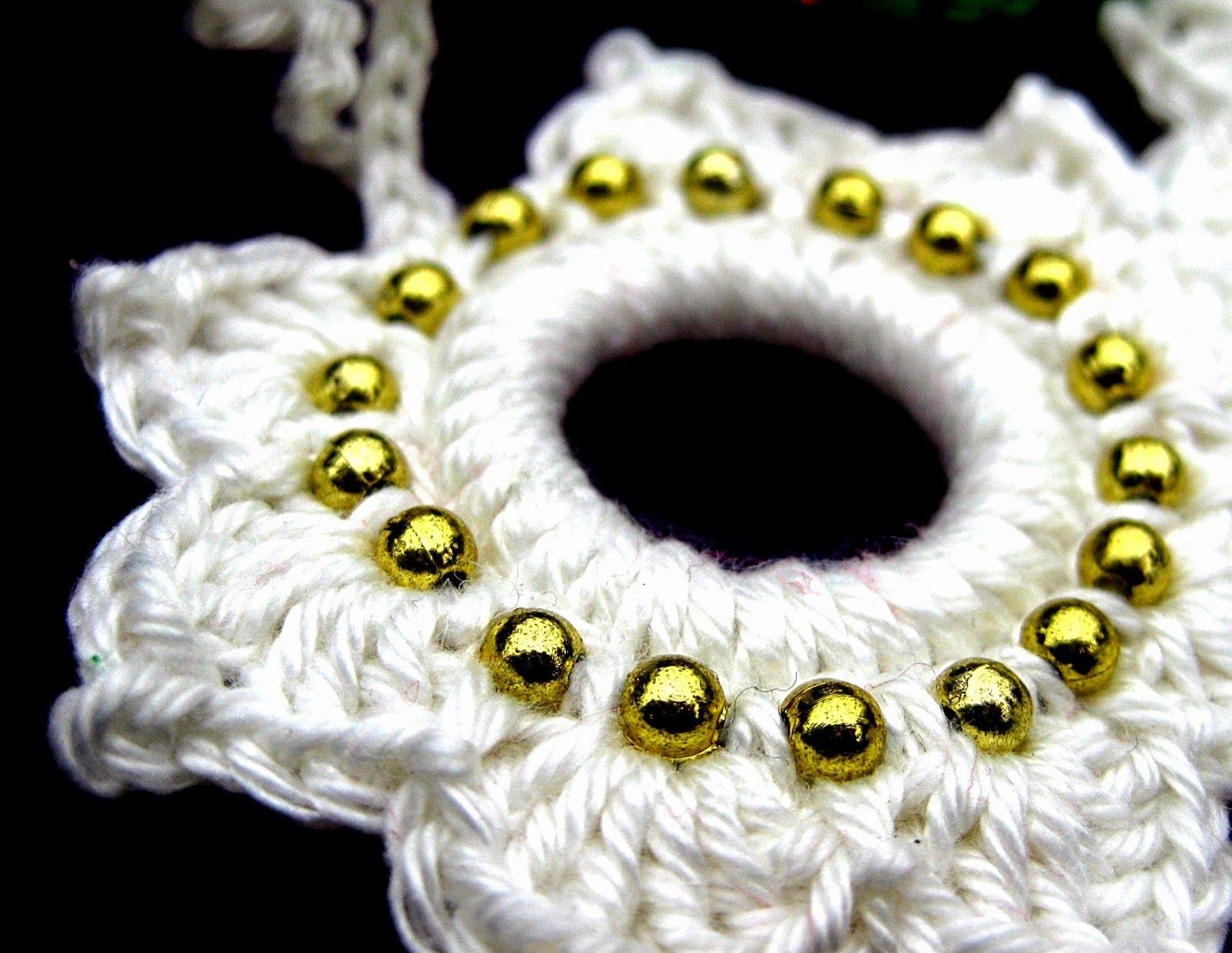 Photo of Jaimee crochets: A pearl snowflake u. a Christmas wreath (including instructions) – Simply Jaimee