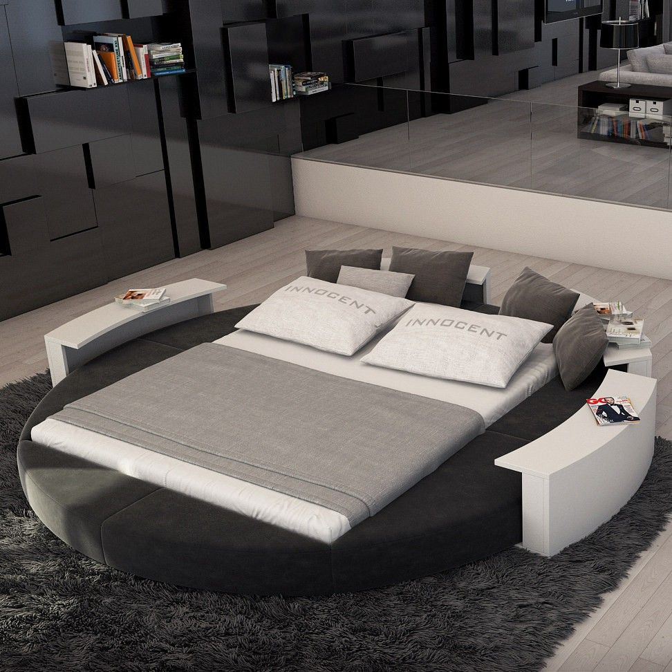 Best Rotana Modern King Round Bed With Images Bed Design 640 x 480