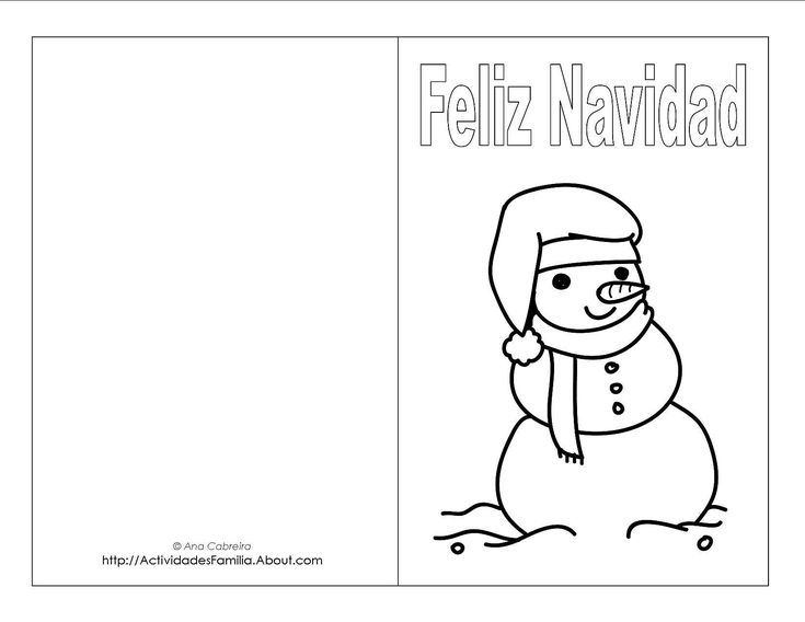 Descargra Gratis: Tarjetas de Navidad para colorear: Tarjeta de ...