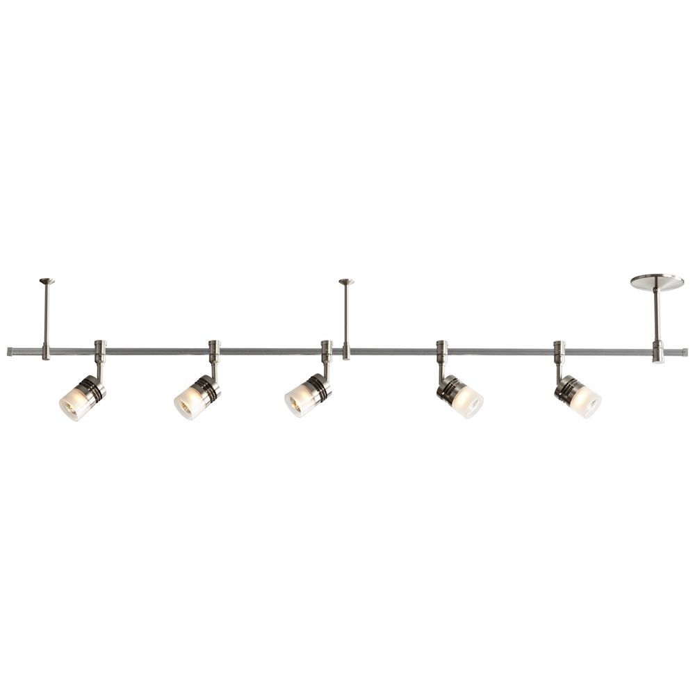 stylish track lighting. Stylish With Modern Appeal, This Adjustable Track Fixture Features A Satin Nickel Finish. Lighting
