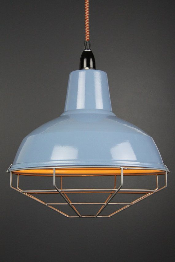 New modern dandy enamel vintage Cage shade tennis court pendant hanging lamp ceiling room wire light