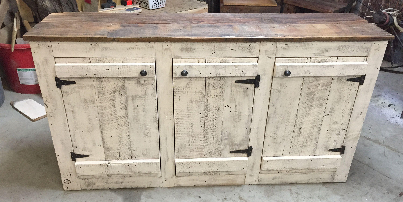 Whitewashed Barnwood Buffet Cabinet Etsy In 2020 Rustic Cabinet Doors Buffet Cabinet Diy Cabinet Doors
