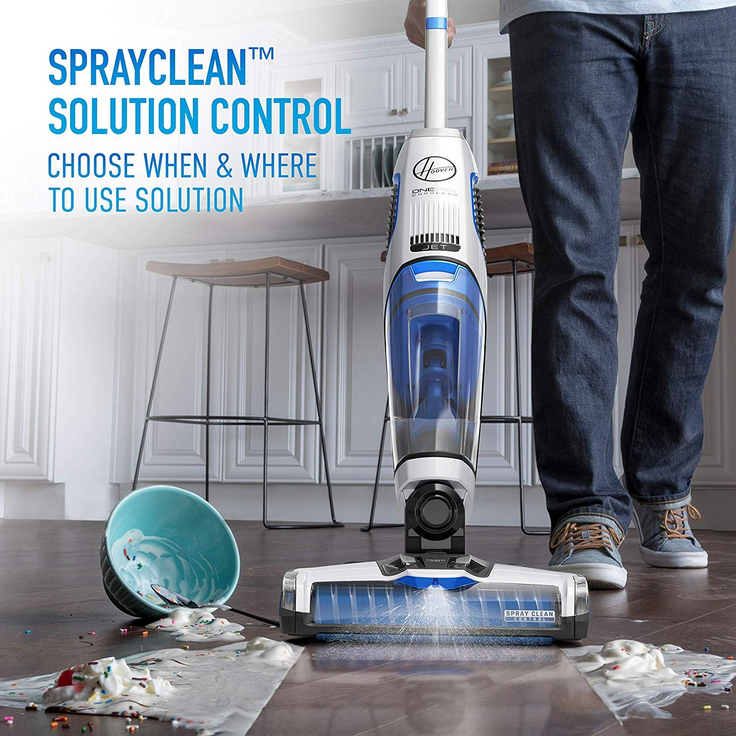 Vacuums While Washing For One Step Cleaning On Multiple Sealed Surfaces Including Hardwoods Tile And Laminate Cordless Del In 2020 Floor Cleaner Hard Floor Cleaners