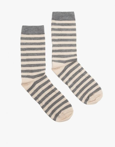 / Irma Striped Crew Socks