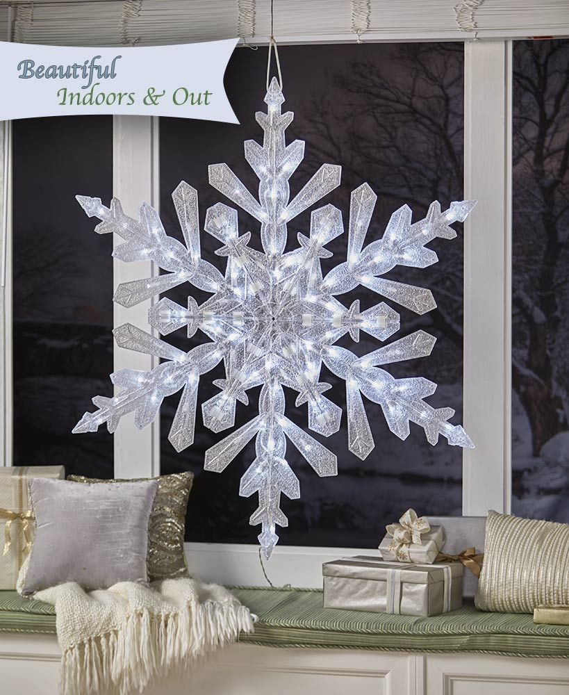 4 Ft Snowflake With Twinkling Lights Snowflake Lights Hanukkah Lights Outdoor Snowflake Lights