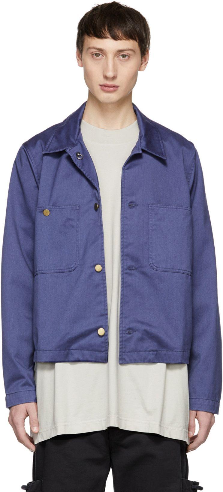 29a0079e Acne Studios - Blue Blå Konst Unreal Jacket | Man | Jackets, Acne ...