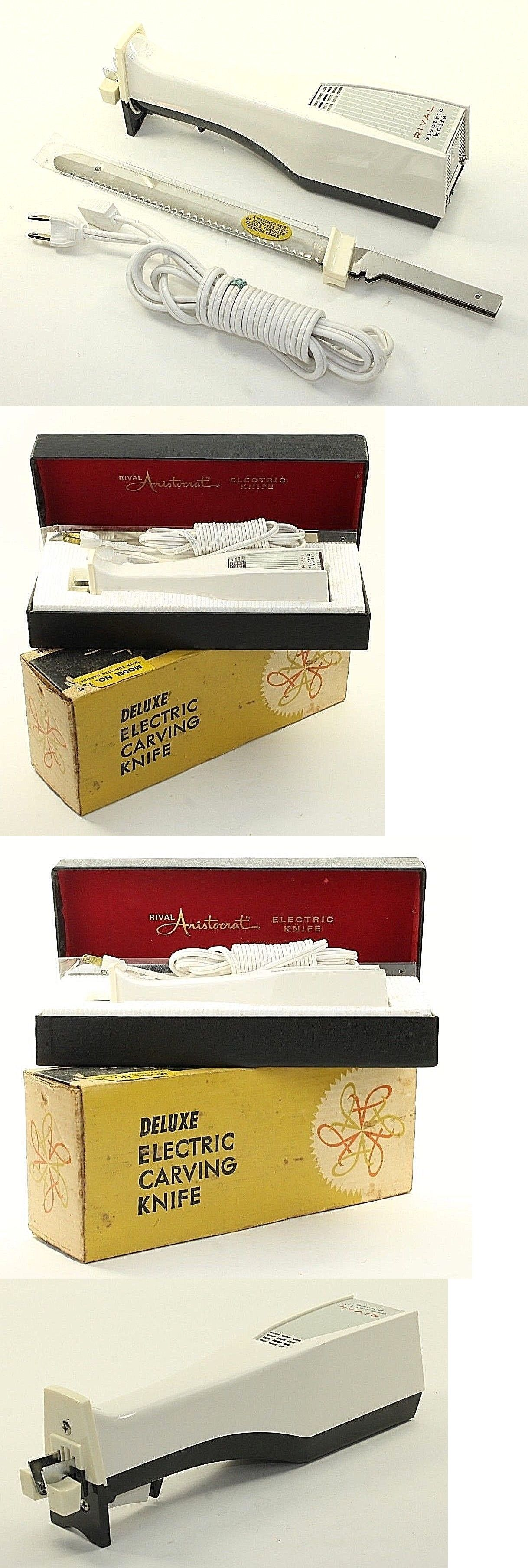 Slicers And Electric Knives 20681 Vintage Rival Aristocrat 1205 6 Electric Carving Knife In Box Kitchen Appliance Buy It Now Carving Knife Knife Chef Knife
