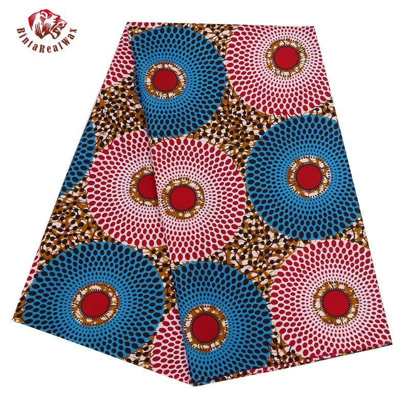 Afrikanischer Wax Print Stoff Nahen Waxprint Batik Afrika