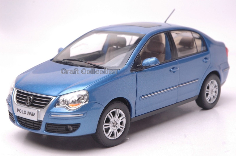 64.80$  Buy here - http://ai3pz.worlditems.win/all/product.php?id=32740302554 - * Blue 1:18 Volkswagen POLO Cross Sedan Alloy Model Diecast Modell Auto Classic toys Scale Models
