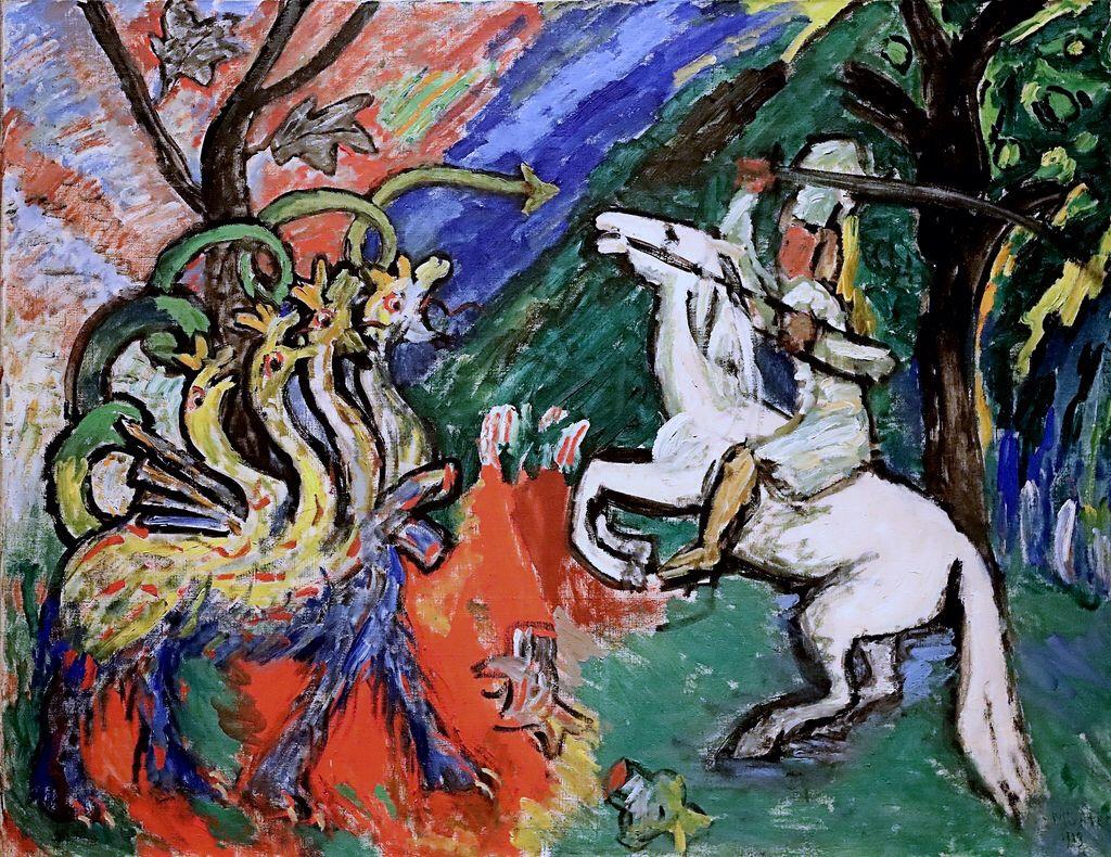 Img 3953 Gabriele Munter 1877 1962 Combat De Dragon Dragon Fight 1913 Musee D Art Moderne De Louisiana Copenhague Exposition Tempo Art Gabriele Munter Art Day