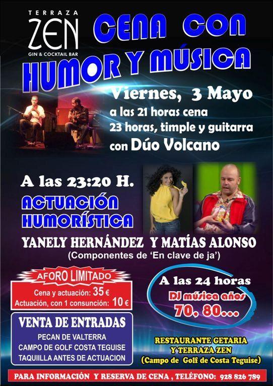 Cena con humor y música en Teguise - http://canariasday.es/?p=50913