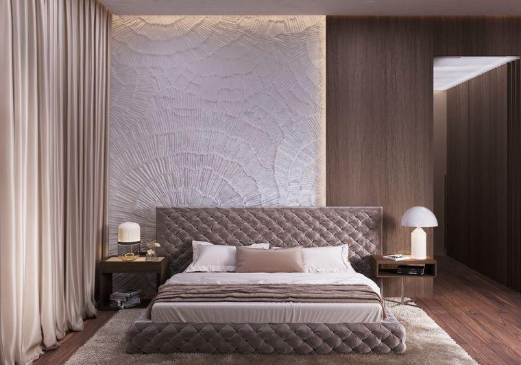 Chambre de luxe de design moderne | deco | Chambre luxe, Chambre ...