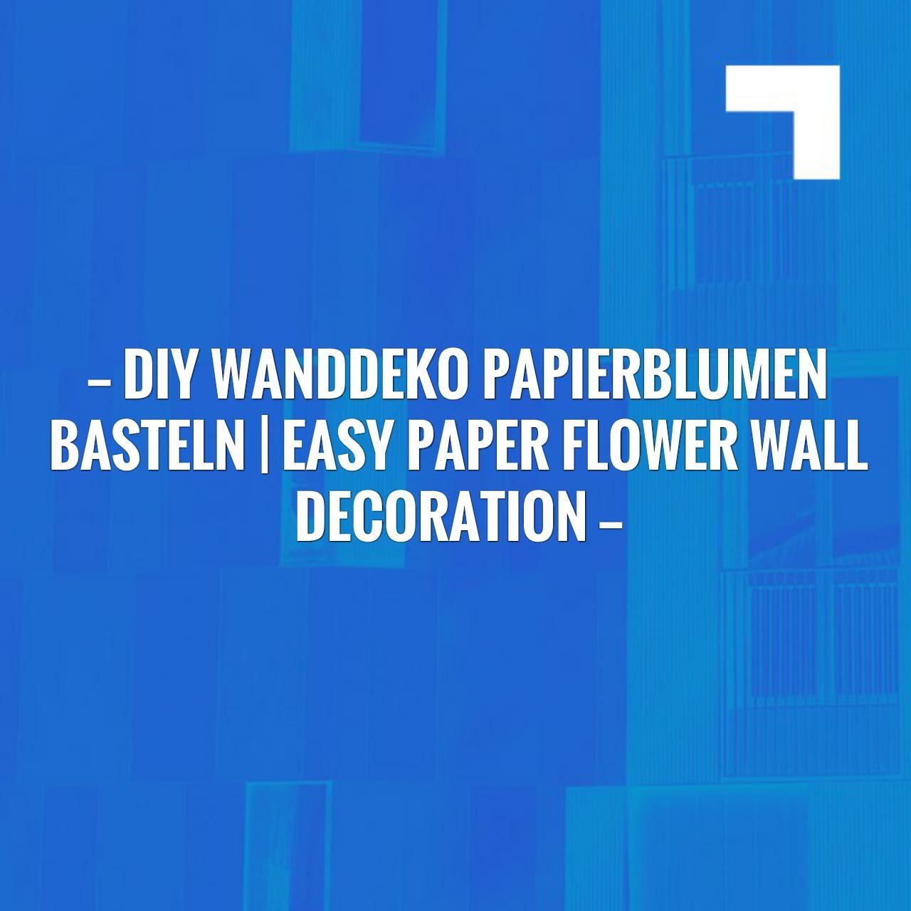 I have a feeling you\'ll like this one 😍 DIY Wanddeko Papierblumen ...