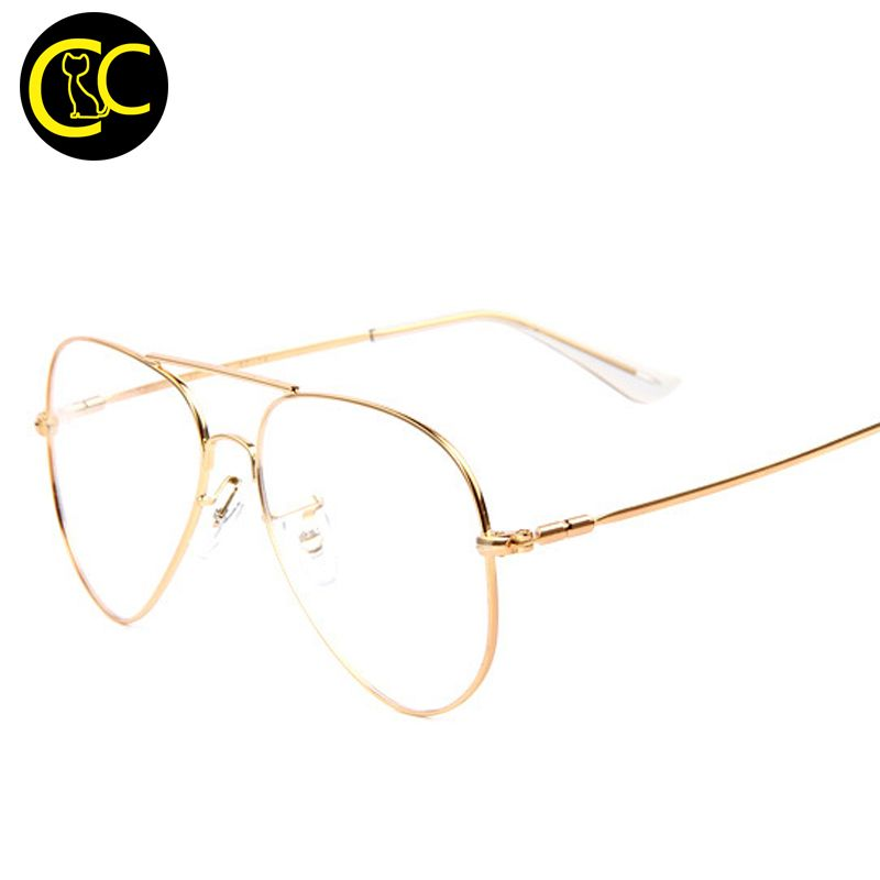 Fashion Aviation Optical Glasses with Clear Lenses Lens Glasses ...