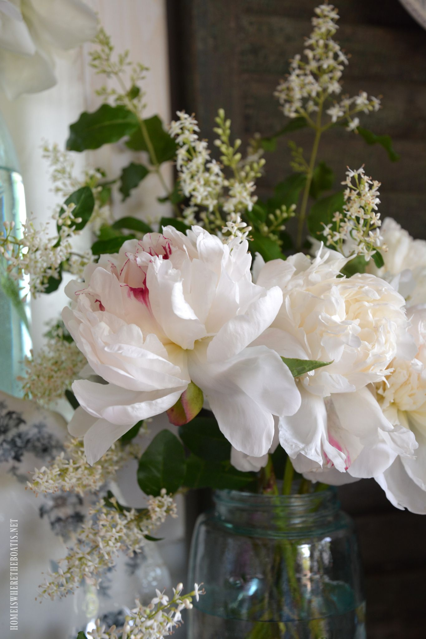In the Potting Shed: Ball Jar Bouquets and Peony Season ...