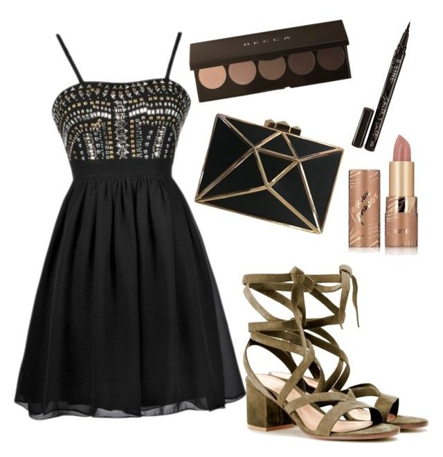 """""""Starstudded"""" by racheld725 ❤ liked on Polyvore featuring Gianvito Rossi, tarte and Smith & Cult"""