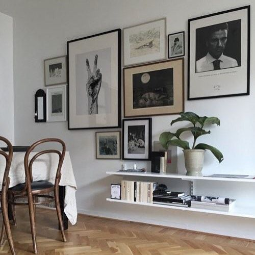 Gallery walls are a great way of showing prints, photos and f