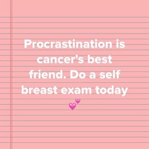 d53981a399e Your monthly self-breast exam reminder 💕 | Breast Cancer Awareness ...