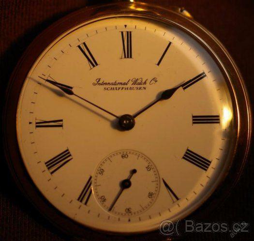 velmi vtácné pánské 2-pláštové kapesní hodinky IWC SCHAFFHAU - 1 ... 06723617a93