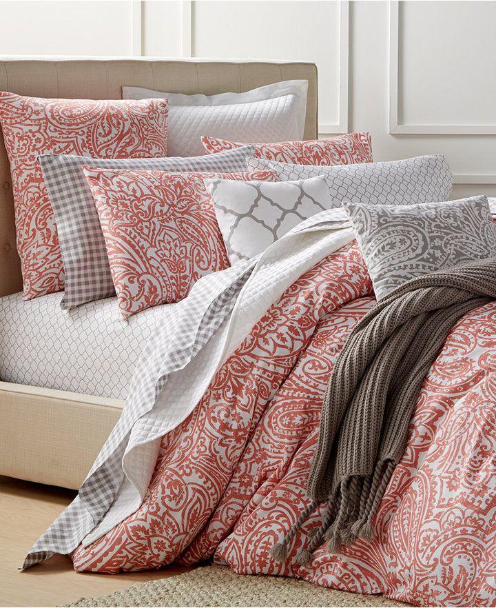 Charter Club Damask Designs Paisley Hibiscus Twin Comforter Set