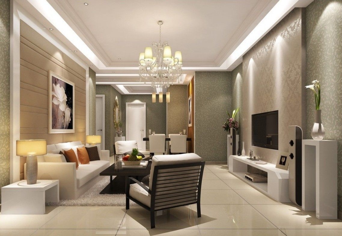 Luxury Living Room With Contemporary Chandelier Design Ideas White Cone Shade Crystal Bead Branched Modern Furniture