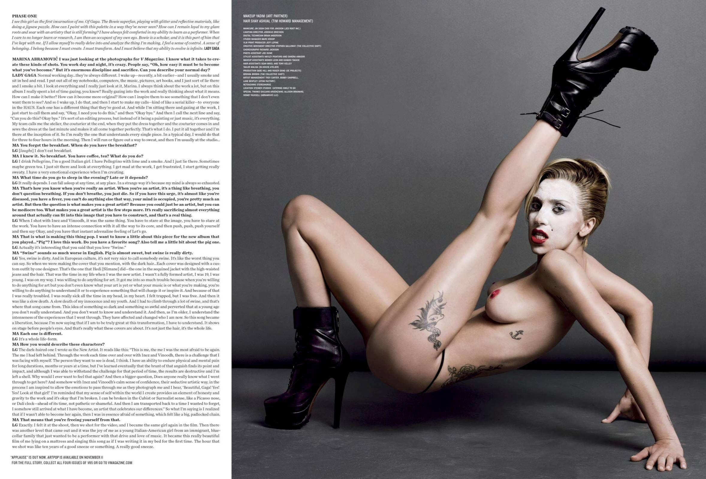 Nude Photograph Of Lady Gaga Leaks