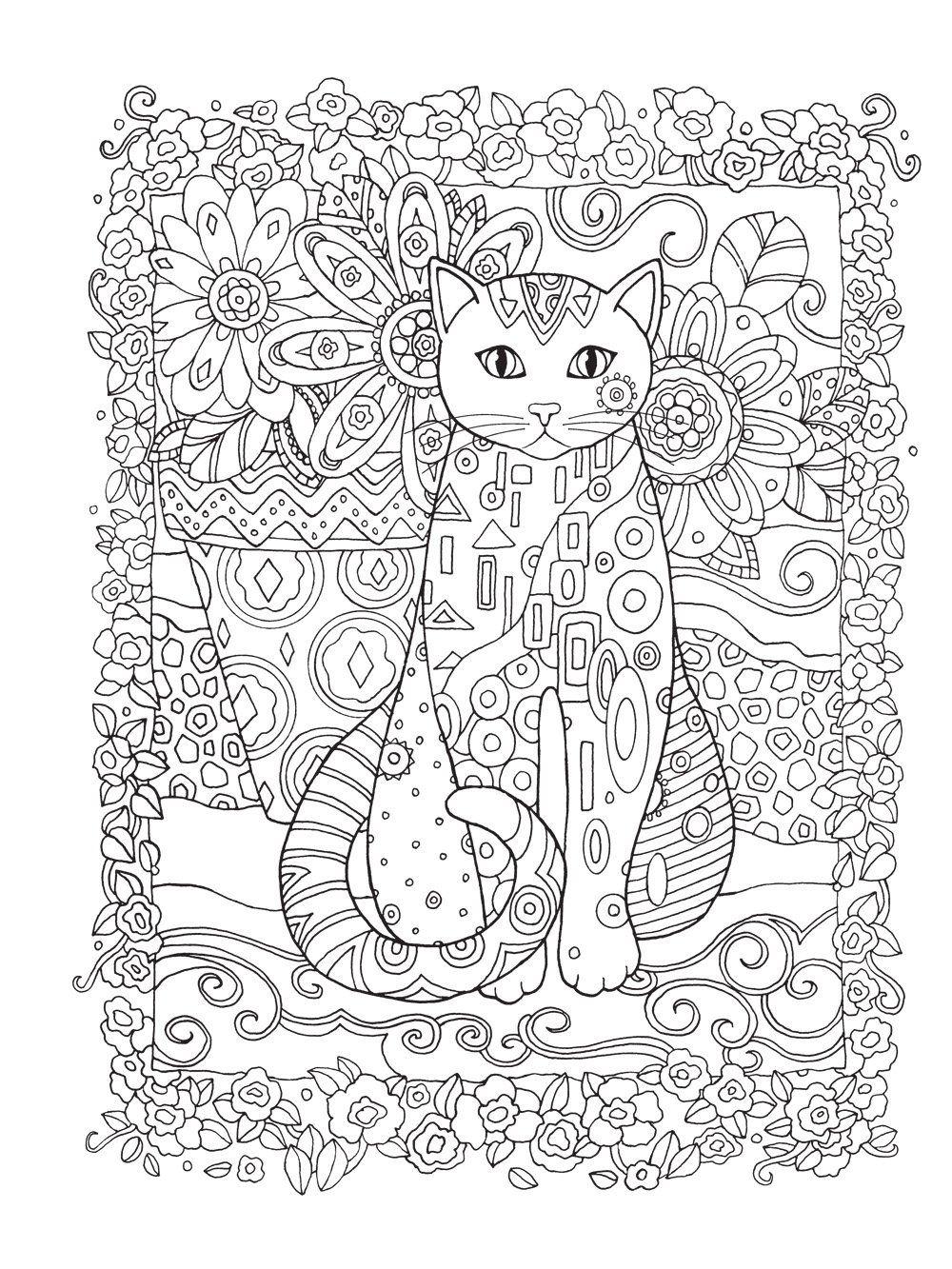 Gatos. O Livro de Colorir - Livros na Amazon.com.br | Coloring pages ...