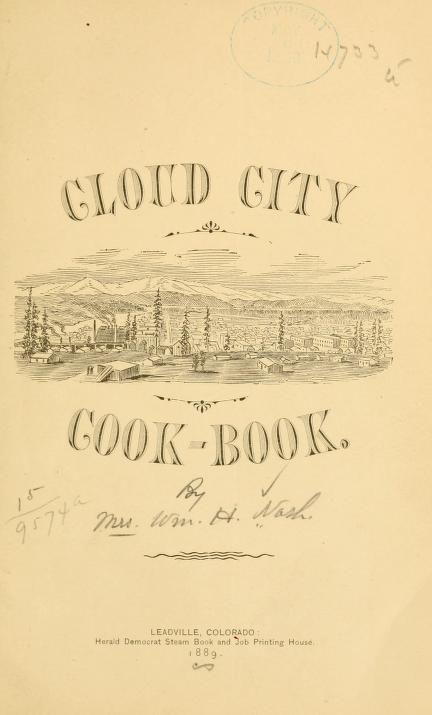 Cloud City Cook Book