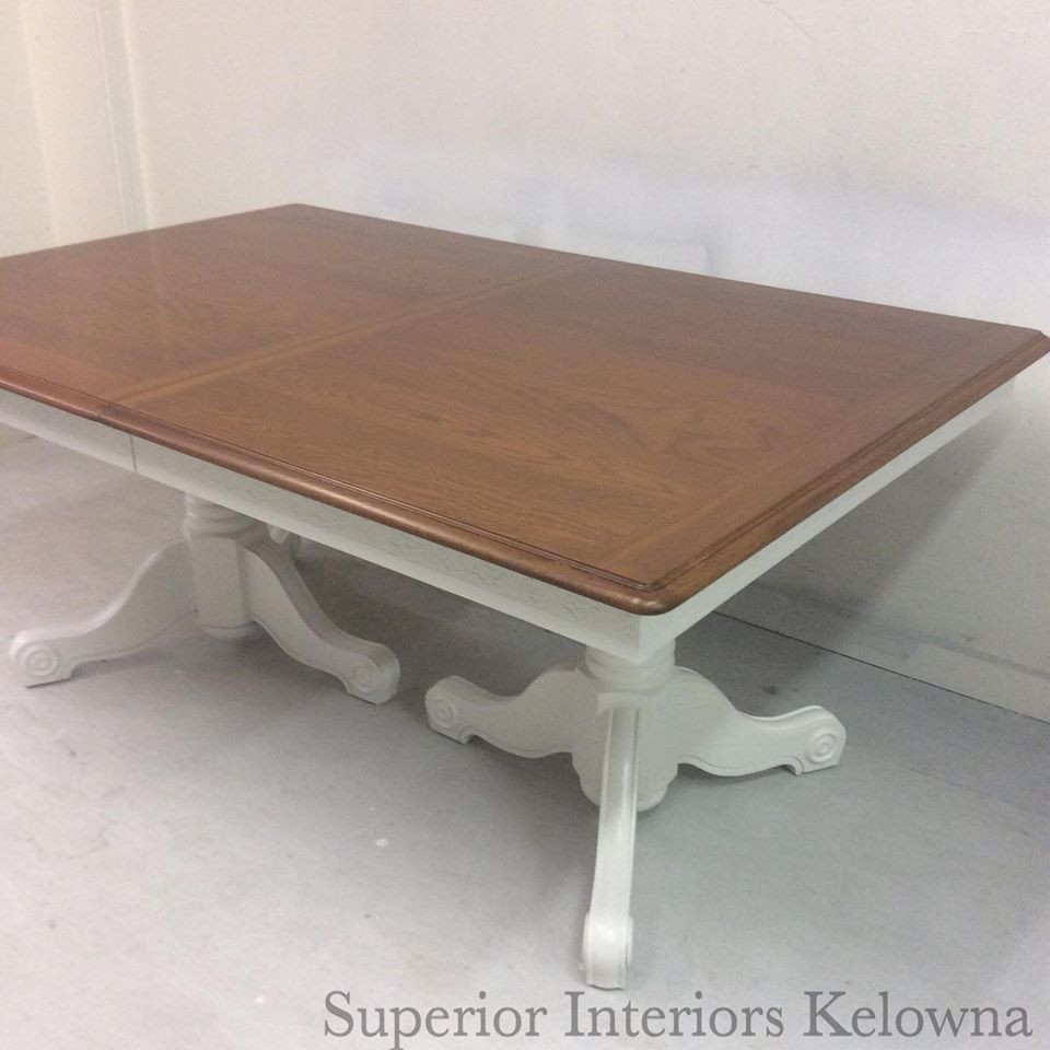 Farmhouse Dining Room Table Updated By Superior Interiors Kelowna