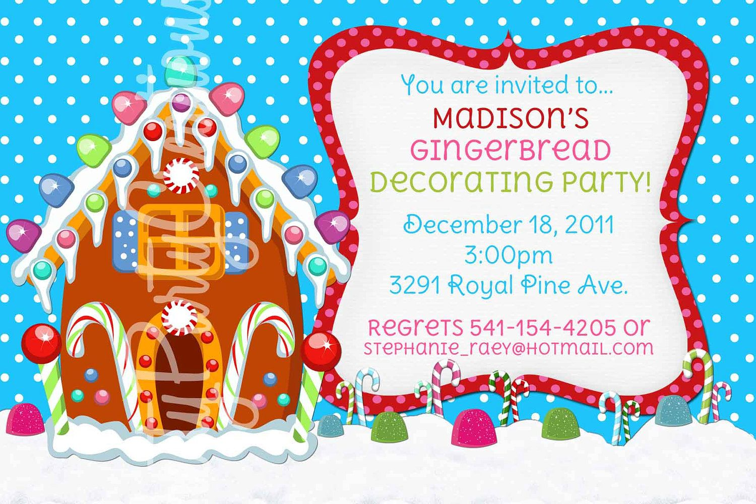 Gingerbread house invitation you print gingerbread house gingerbread house invitation you print gingerbread house parties gingerbread and merry filmwisefo Images