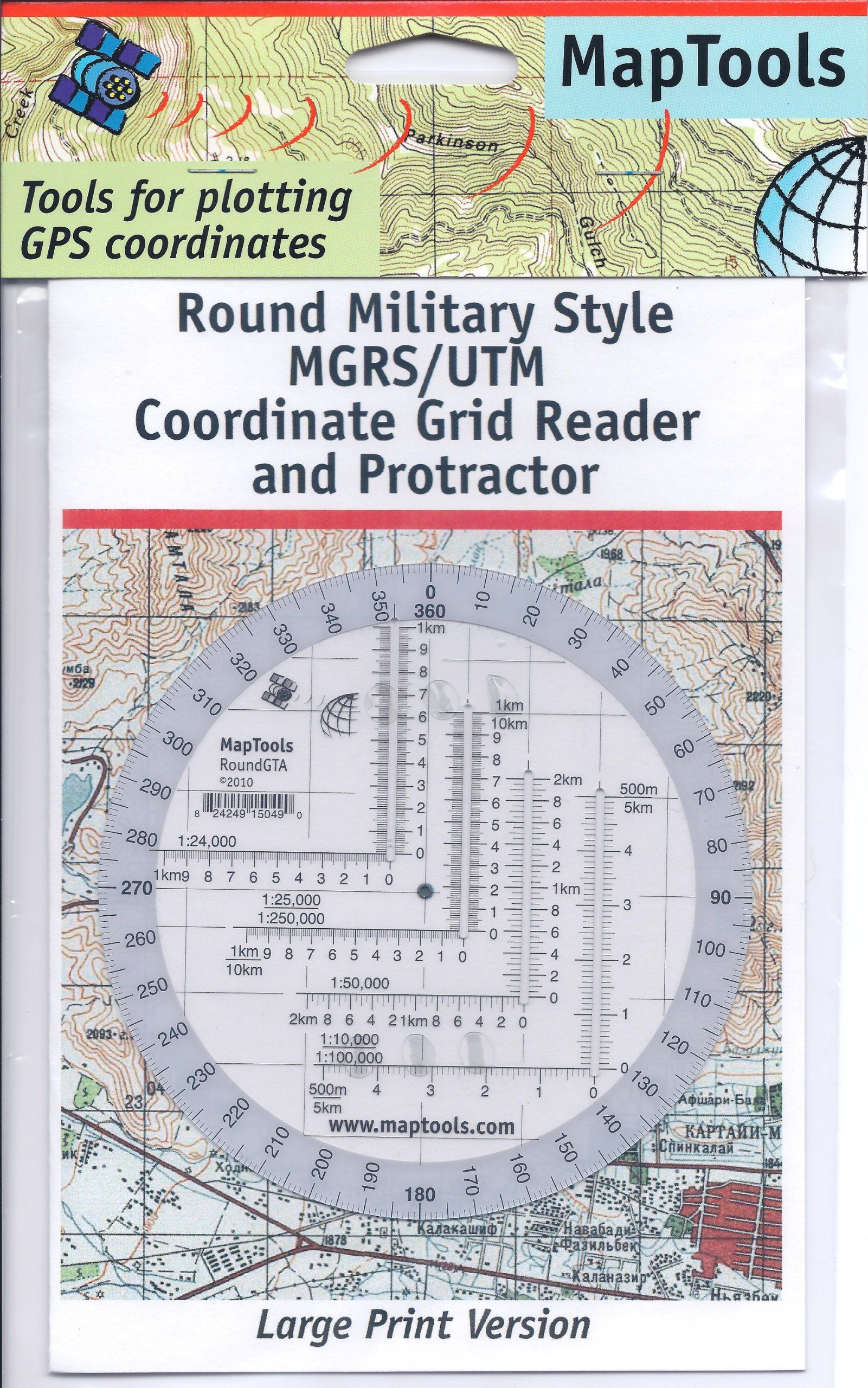 Amazon Com Map Tools Round Military Utm Mgrs Grid Reader Protractor