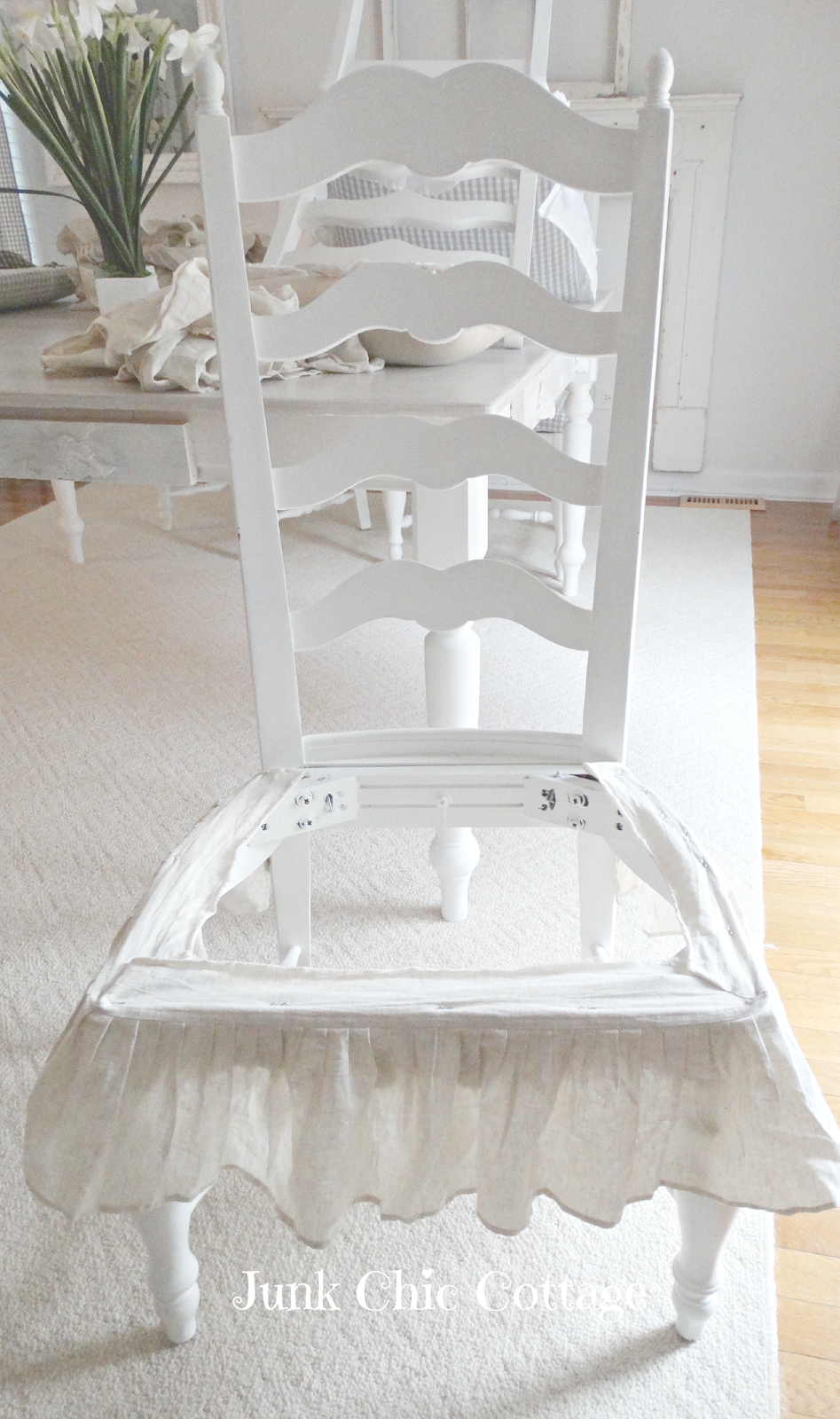 Junk Chic Cottage: Cream additions to the Dining Room