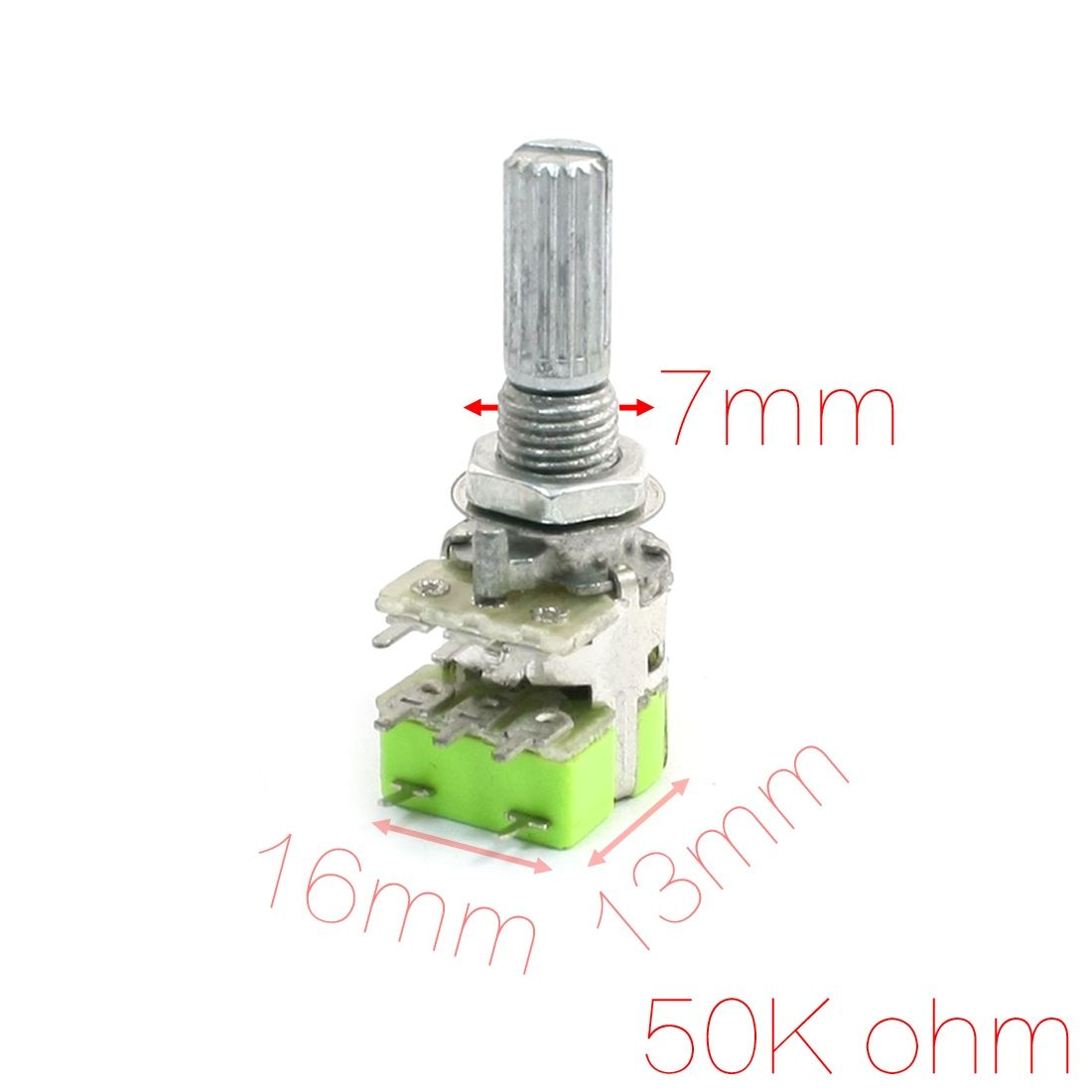 UXCELL Stereo B50k 50K Ohm Dual Linear Taper Volume Control