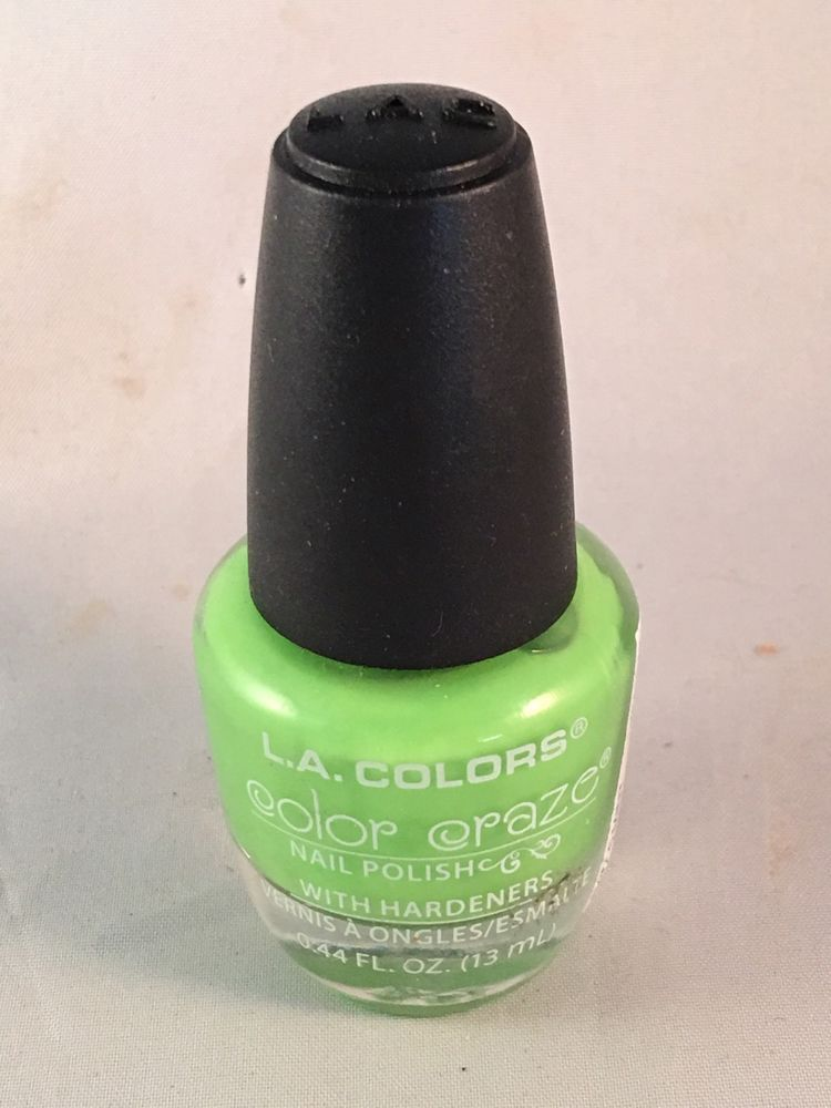 L.A. Colors Color Craze Nail Polish Mint With Hardeners