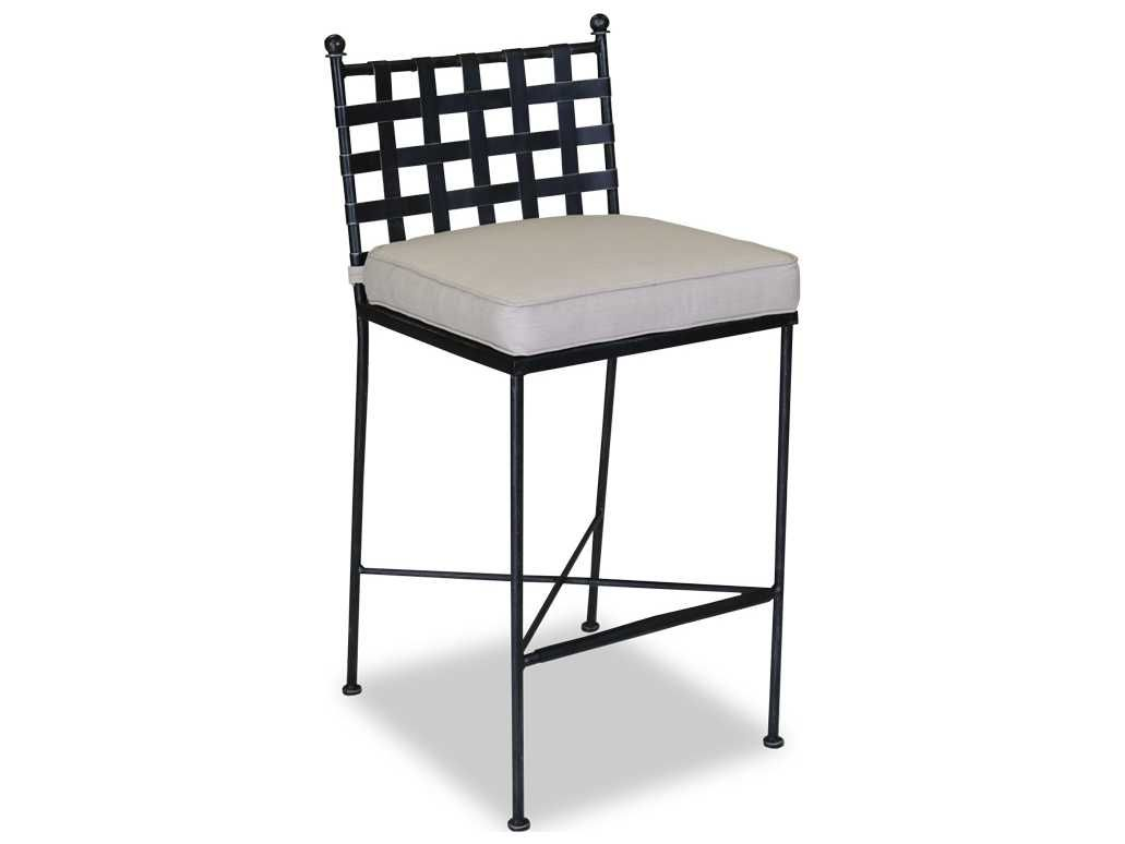 sunset west provence wrought iron patio bar stool enjoy the refined style of the sunset west provence wrought iron patio bar stool at your outdoor